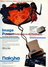 "Naksha Handheld Scanner ""Image Power"" 1991 Magazine Advert #5592"