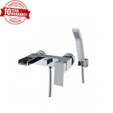 Luxury Waterfall Modern Bathroom Wall Mounted Chrome Bath Shower Mixer Tap *ZB