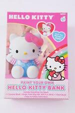 SANRIO HELLO KITTY PAINT YOUR OWN CERAMIC BANK ACRYLIC PAINT BRUSH STRIP NEW!