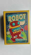 WIND UP RETRO TOY MARCHING RED & BLUE SPACE ROBOT ~ WIND UP CLASSIC TOY  16558