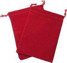 Chessex Velour Cloth Dice Bag Large 5 x 7 RED Holds 90-100 Dice CHX 02394