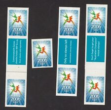 2006 Australia - Comm Games Logo pack of 7 P&S Stamps & 3 message Labels MNH