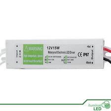 Transformador IP67 EXTERIOR Para LED AC 90V--250V a DC 12V / 15W 1.25A