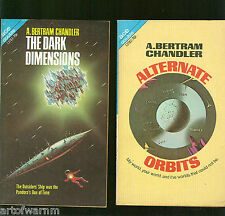 13783 DARK DIMENSIONS & ALTERNATE ORBITS - A B Chandler   ACE double  SF VG-