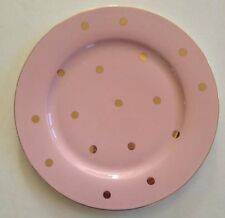 Pink Cynthia Rowley Dinner Plates Porcelain Set Of 4 New