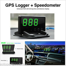 Universal GPS Speedometer HUD Head Up MPH / KM/h Plug & Play Overspeed Warning