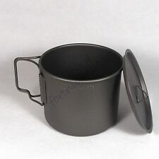 MY titanium Mug Cup pot 550ml lid Travel hiking camping fishing outdoor picnic