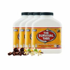 Survival Tabs Escape Food 15 Days 4 BottlesX180 Tabs Vanilla Malt & Chocolate