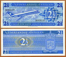 Netherlands Antilles, 2 1/2 Gulden, 1970, P-21, UNC   Airplane