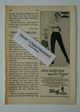 Werbeanzeige/advertisement A5: Toni Dress - Stretch-Elastikhose 1966 (0308168)