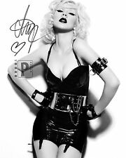 "Christina Aguilera 8""x 10"" Great! Signed B&W PHOTO! REPRINT"