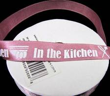 "5 Yds In the Kitchen Cook Cooking Chef Scrapbook Ribbon 5/8""W"