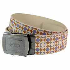 Pattern Belt -  Cream And Grey Cool Retro Fashion Design