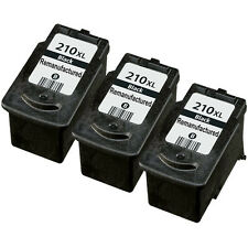 3 Pack Canon PG-210XL Ink Cartridge Black - PIXMA MP230 MP280 MP499 MX350