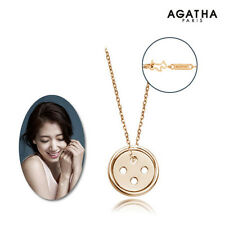 Pinocchio 2014 TV series Drama Park Shinhye Buttons Pendant Necklace AGATHA Gold