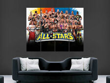 WWE SUPERSTARS POSTER LEGENDS WRESTLING SPORT USA IMAGE PRINT GIANT LARGE WALL