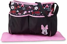 Disney Minnie Mouse Diaper Bag Organizer Changing Pad Travel Tote Girl Shower