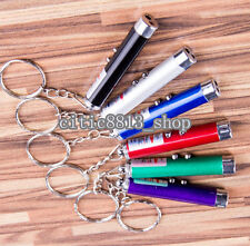 NEW 2 In1 Red Laser Pointer Pen With White LED Light Kids Cat's Toy Multicolor C