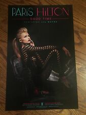 "Paris Hilton 11X17 Inch Official Rare Us Promo Poster ""Good Time"" Double Sided"