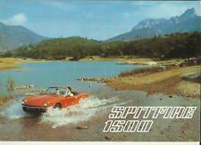 TRIUMPH SPITFIRE 1500 SALES BROCHURE SEPTEMBER 1977 FOR 1978 GERMAN LANGUAGE