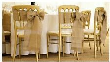 "118"" x 6"" Hessian Burlap Vintage Wedding DIY Chair Sash Decoration Table Runner"