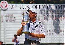 Retief GOOSEN SIGNED Autograph 12x8 Photo AFTAL COA US PGA Open Winner GOLF