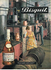 PUBLICITE ADVERTISING 0314   1961   BISQUIT    cognac fine champagne