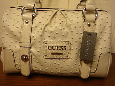 NWT GUESS HIROKO CREAM BOX SATCHEL HANDBAG 100% AUTHENTIC
