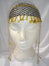 Ladies Egyptian Cleopatra Queen Of The Nile Black Headpiece Fancy Dress Wig