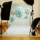 Vinyl Photography Blue Flower Scenery Backdrop Background Studio Prop 3X5ft