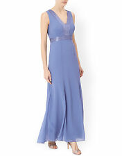 New MONSOON Blue Clarice Maxi Evening Prom Dress Gown Ballgown Size 10 BNWT £149