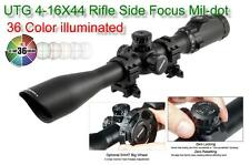 UTG SCP3-U416AOIEW Compact Rifle Scope 4-16X44 with SWAT Focus 36 Color Reticle