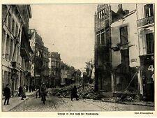 1914 Belgien  * Straße in Lier nach der deutschen Beschießung *  WW1