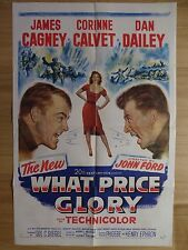 WHAT PRICE GLORY (1952) - original US 1 Sheet film/movie poster, James Cagney