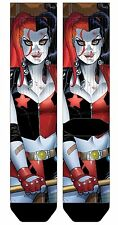 DC COMICS HARLEY QUINN PREMIUM SUBLIMATED MENS ADULT CREW SOCKS BATMAN THE JOKER