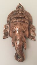 Ganesh Face Ganesha LARGE  Wall Hanging 11.5'' 29cm Bronze Elephant God Hinduism