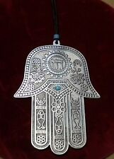 XLg HAMSA HAND OF FATIMA HAND OF GOD GOOD LUCK EVIL EYE PROTECTION WALL HANGING