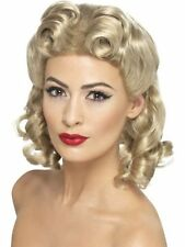 New Women's Sexy Vintage Blonde Sweetheart Wig with Curls 1940's Hen Night Party