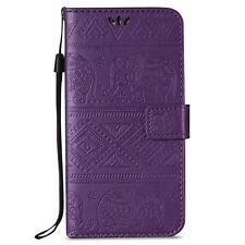 Embossing Leather Wallet Credit Cards Stand Flip Case Cover For Samsung Galaxy