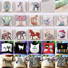 "18"" Animal Cat Cotton Linen Pillow Case Throw Cushion Cover Home Sofa Car Decor"