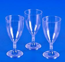 75 PLASTIC WINE GLASSES 8 oz Wedding Party Cups Disposable NEW!!