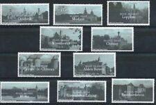 Belgium**CASTLES-10stamps-CHATEAUX-2002-Schloesser-Kastelen-MNH