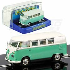 Scalextric Volkswagen Camper Van Green/Beige DPR W/ Lights 1/32 Slot Car C3760