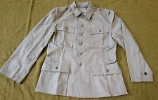 WWII GERMAN HEER ARMY M43 REED GREEN HBT SUMMER COMBAT FIELD JACKET-LARGE