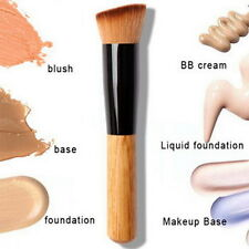 Bamboo Foundation Blush Angled Flat Top Base Liquid Brush Cosmetic Makeup OEG