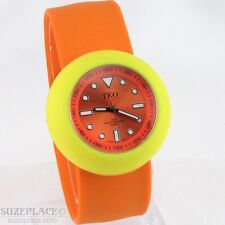 TKO ORLOGI LADIES ORANGE SLAP WATCH TK590-OYO NEW BATTERY GREAT CONDITION
