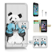 iPhone 7 PLUS (5.5') Flip Wallet Case Cover P1907 Panda