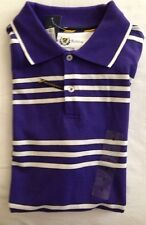 Mens The Club Room The Estate Polo NWT Size S Purple, White & Black Short Sleeve