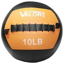 Valor Fitness 10lb Wall Ball Black WB-10 Exercise Balls NEW