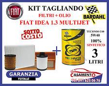 KIT TAGLIANDO OLIO MOTORE BARDHAL 5W40 + FILTRI FIAT IDEA 1.3 MULTIJET